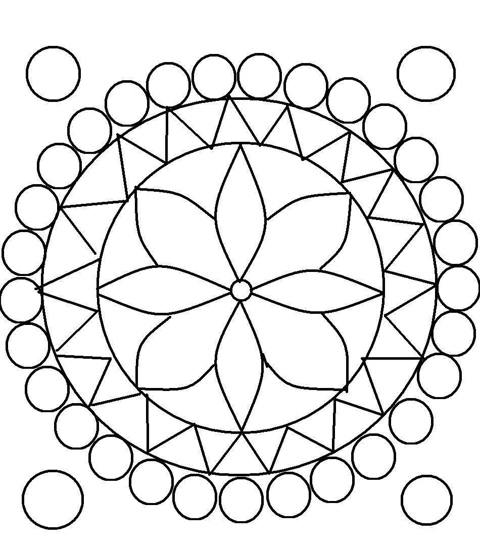Top Simple Pattern Coloring Pages Design