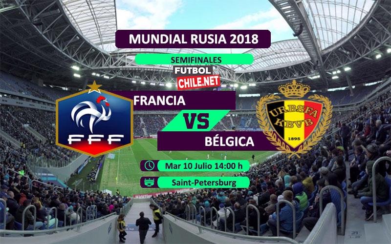 Francia vs Bélgica en vivo y online por las semifinales del Mundial Rusia 2018