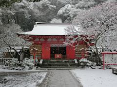 雪の荏柄天神社