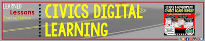 Civics and Government Digital Learning Choice Boards, Google Lessons