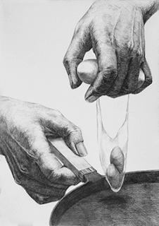 多摩美術大学グラフィックデザイン学科「料理をする両手」