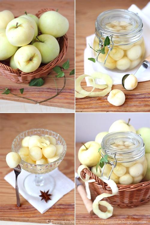 kulki z jabłek papierówek w syropie