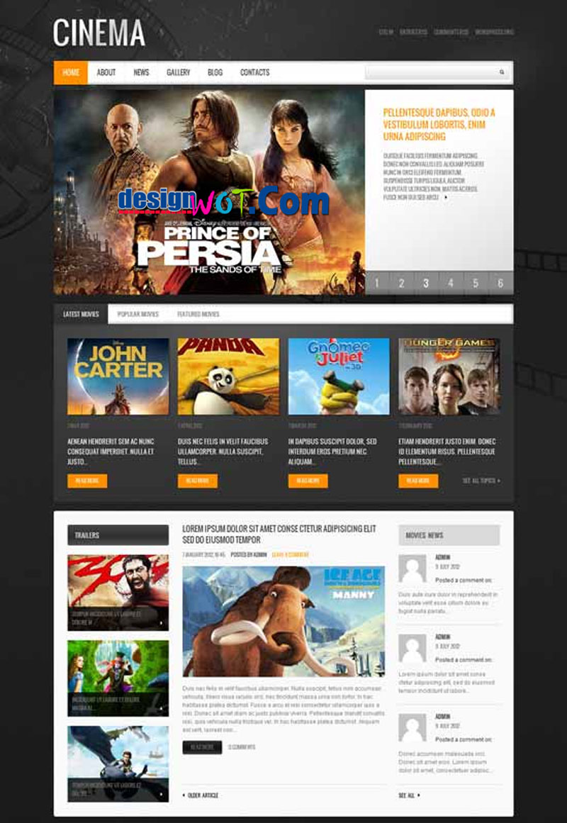 CINEMA Movie WordPress Theme