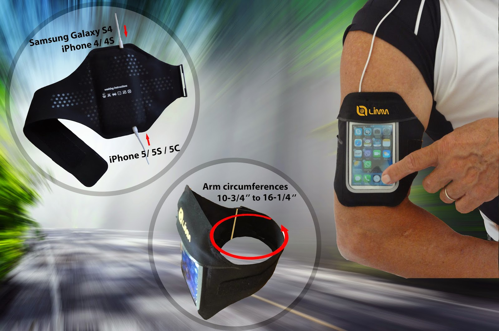 Fully adjustable armband allows you to enjoy all your device's features while keeping it secure, protected and accessible during a run, workout or other exercises.