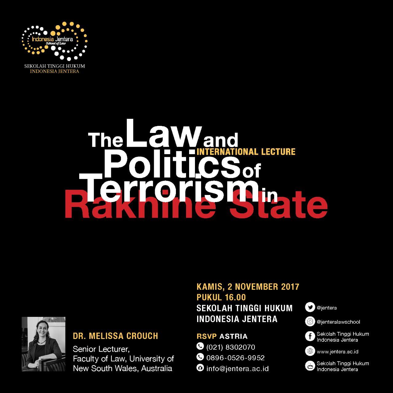 Melissa Crouch: Seminar at Jentera Law School