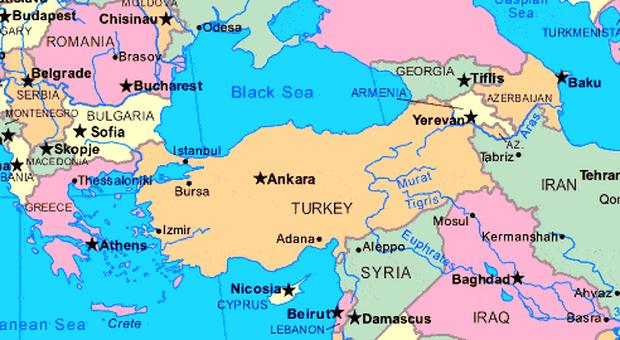 letak astronomis, geografis, dan geologis turki