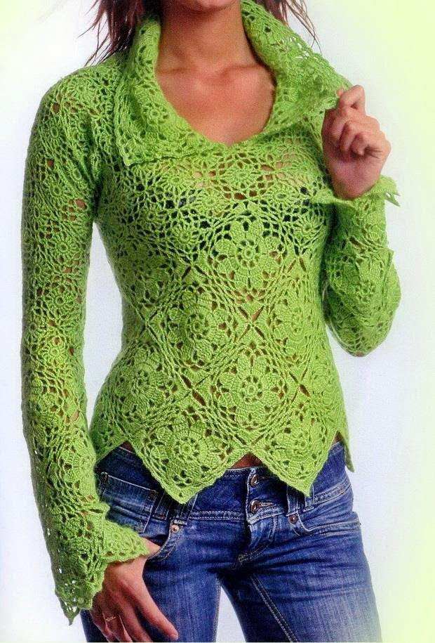 Crochet Sweater For Women