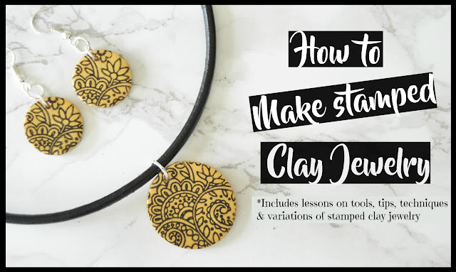 how to make a stamped clay jewelry