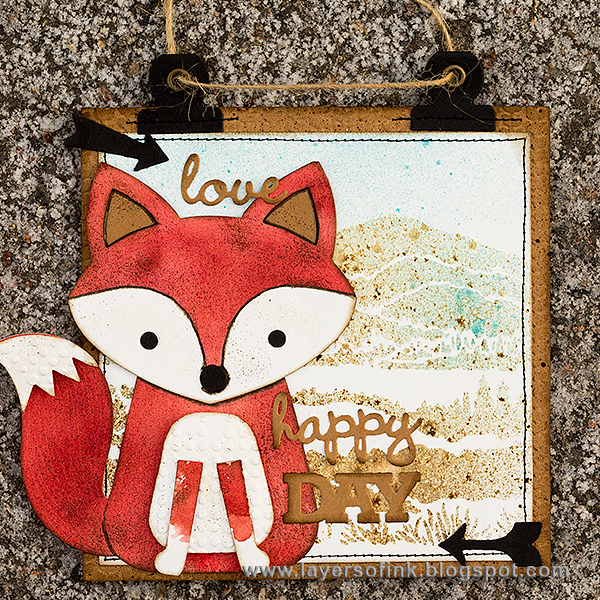 Layers of ink - Fox Wall-hanger Tutorial by Anna-Karin