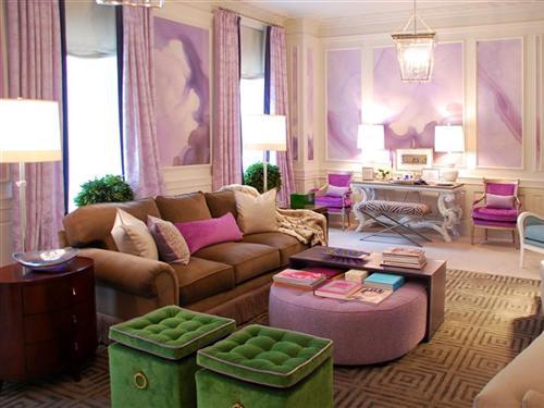 Aesthetic Oiseau: Lavender Dream Living Room