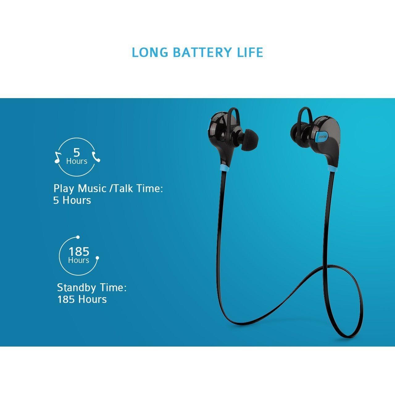 Mpow Swift Auricolari Wireless Bluetooth 4.0 Headset Stereo Cuffie Sportive  a Prova di Sudore con Microfono e AptX Tecnologia Headphone per iPhone 6s  ... 3c5134948790