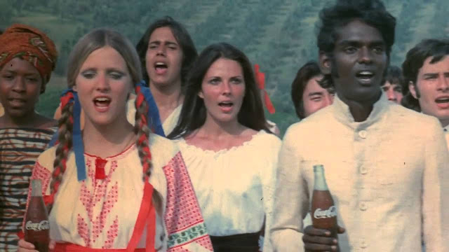 "Coke's, ""I'd like to buy the world a coke."" filmed in 1971, was the most expensive commercial to date. Filmed on a hill in Rome it was more than twice the estimated 100,000"