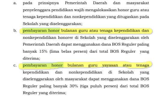 Permendikbud Nomor 18 Tahun 2019 tentang Perubahan BOS Reguler