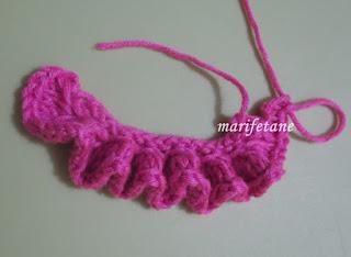 knit ruffle