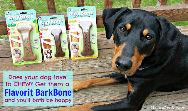 flavorit barkbone dog chew doberman rescue dog