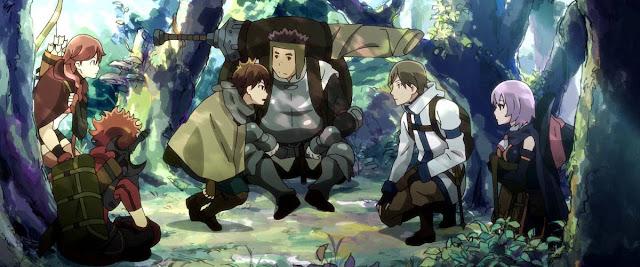 Kadr z bohaterami Hai to Gensou no Grimgar