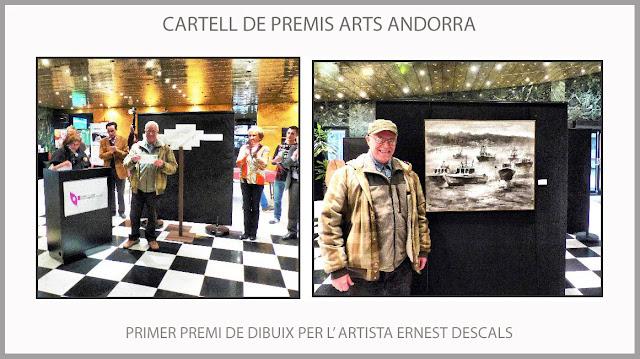 CARTELL-PREMIS-ARTS-ANDORRA-PREMI-DIBUIX-CONCURS-BARQUES-BOIRA-ARTISTA-PINTOR-ERNEST DESCALS-