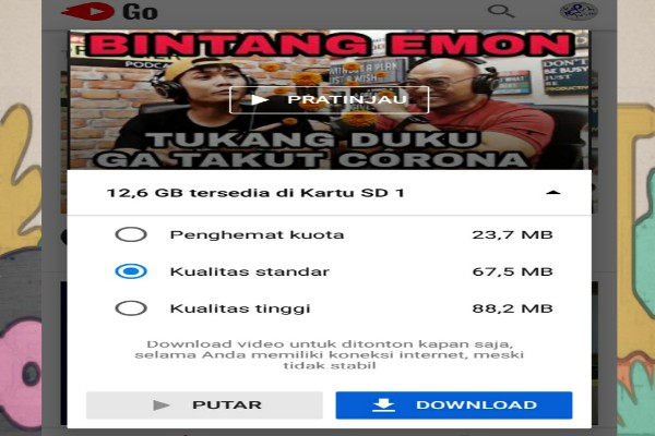 Instal Aplikasi Youtube Go Agar Kuota Internet Tetap Hemat