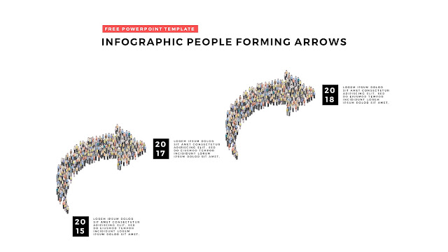 Free PowerPoint Template with Infographic People Forming Arrows Slide 2