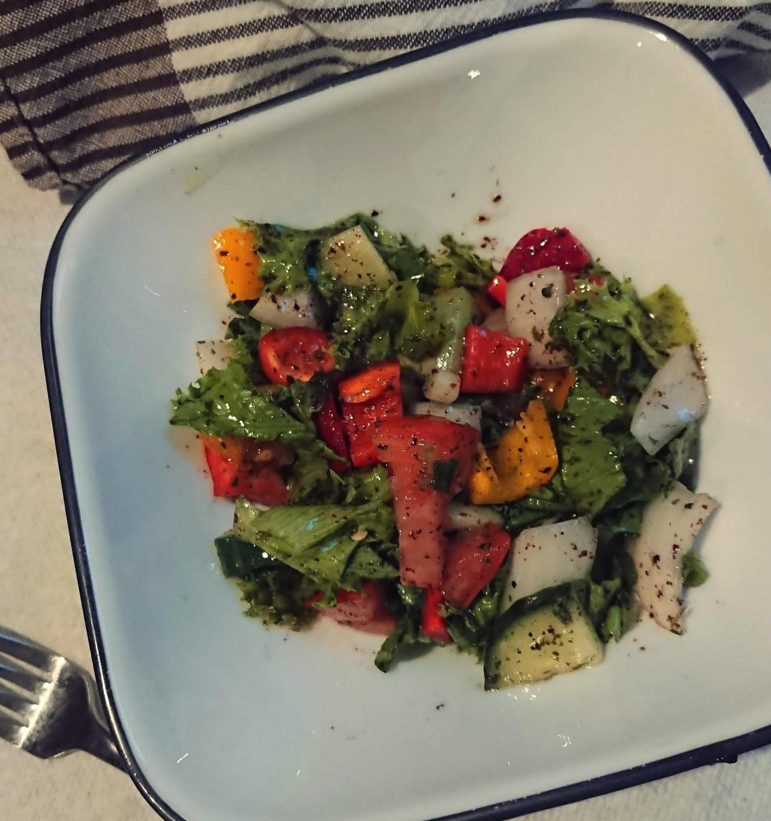 Gluten Free Vinegar Free Mediterranean Salad