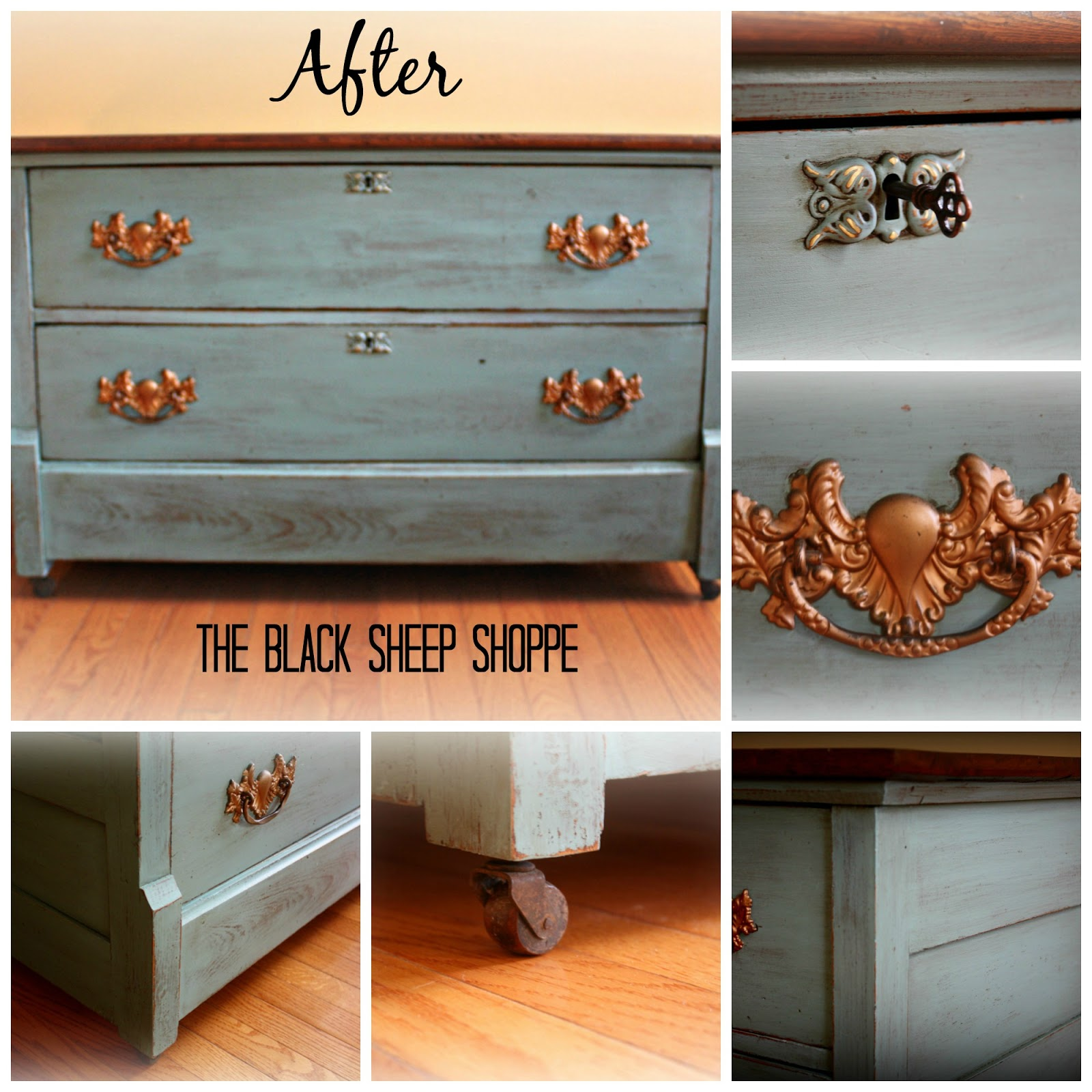 Rustic antique dresser painted in Provence Chalk Paint by Annie Sloan