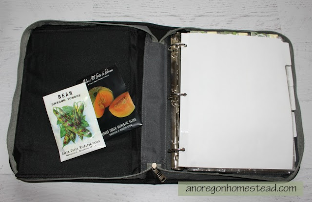 Store your seed packets in a binder. It allows easy access and organization so you always know what seeds you have on hand.