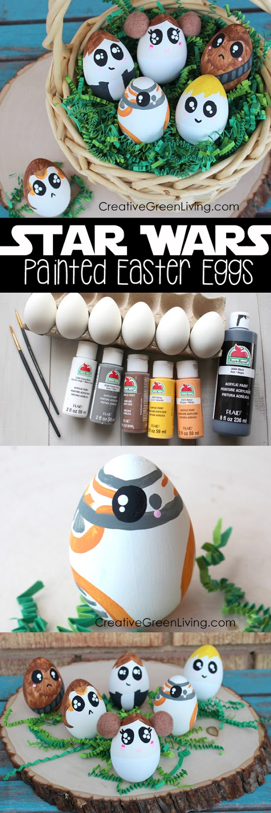 Best Star Wars craft ideas - how to make star wars easter eggs