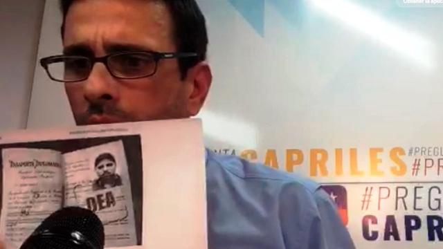 """Capriles: """"Gobierno niega la entrada a aviones con medicinas pero permite que salgan con droga"""""""