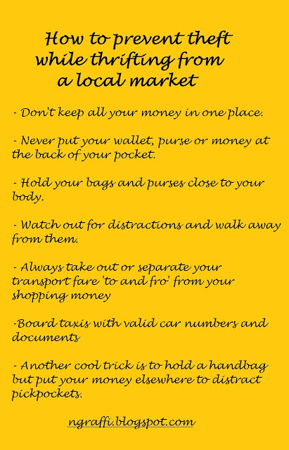 Tips to prevent theft while thrifting in a local market