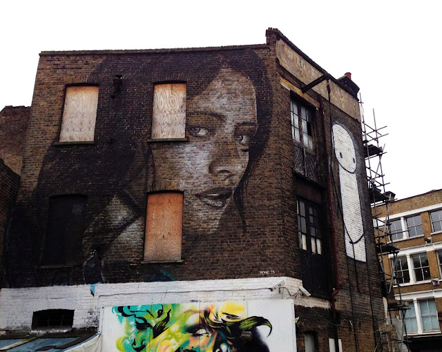 New Street Art Portrait By Australian Artist RONE in East London, United Kingdom. 2