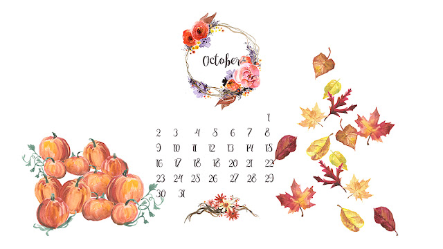 Desktop calendar october 2016 - Live Love Simple