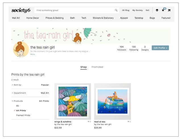 screenshot of art shop