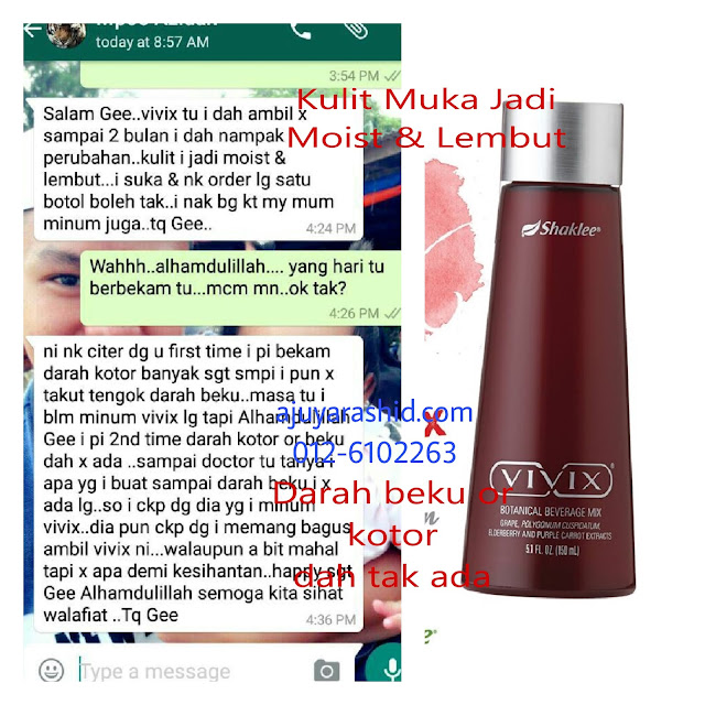 Vivix untuk darah beku kotor
