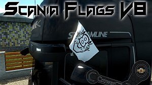Original Flags for Scania V8