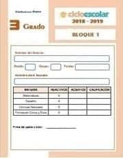 del Bloque I Tercer grado  2018-2019