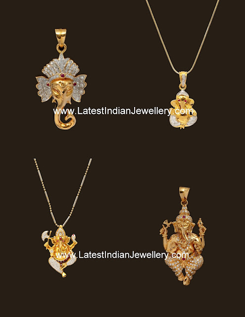 Diamond Ganesh Lockets