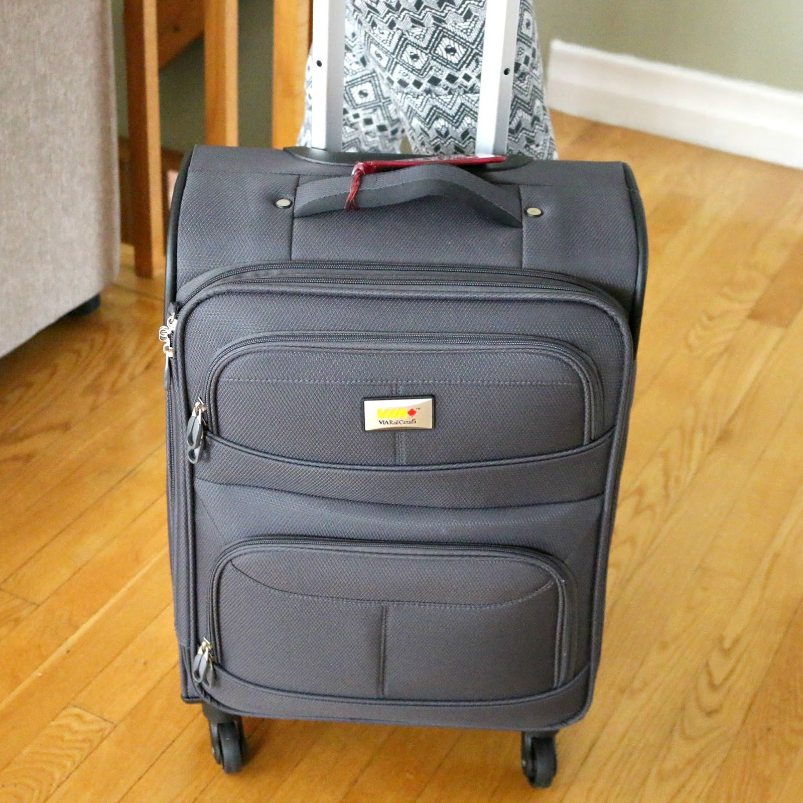 Via Rail Canada James Bay 20-inch 4-Wheel Carry-on Spinner Luggage