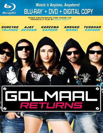 Golmaal Returns 2008 Hindi 720p BRRip ESubs