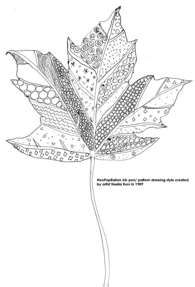 Art Lesson Plans Neopoprealism Ink Pen Pattern Drawing For All Ages Leaves Neopoprealism Ink And Pen Pattern Drawing Grades 3 5 6 8 Adaptable For High School