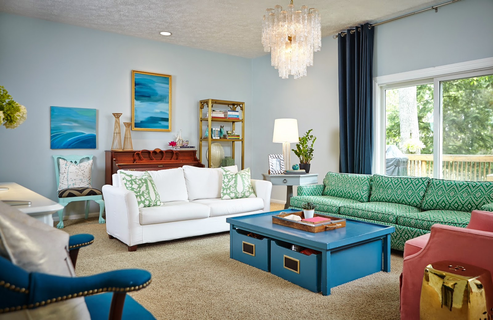 Home Decorating Abby M Interiors Update Home Tour Pink Green and Blue Living Room Design