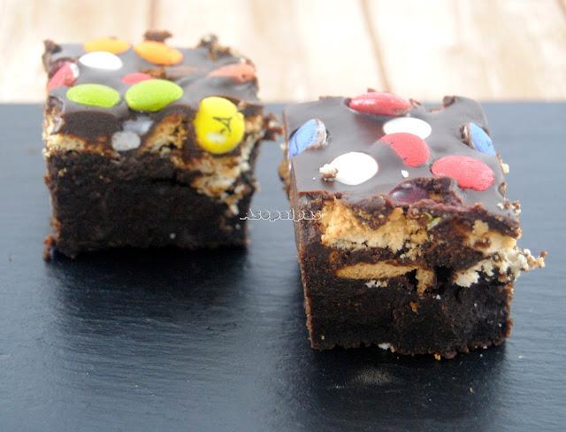 Brownies con Galletas Lacasitos