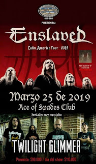"ENSLAVED ""Latin American Tour 2019"" junto a Twilight Glimmer Colombia 2019"