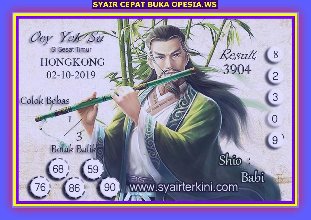 Kode syair Hongkong Rabu 2 Oktober 2019 54