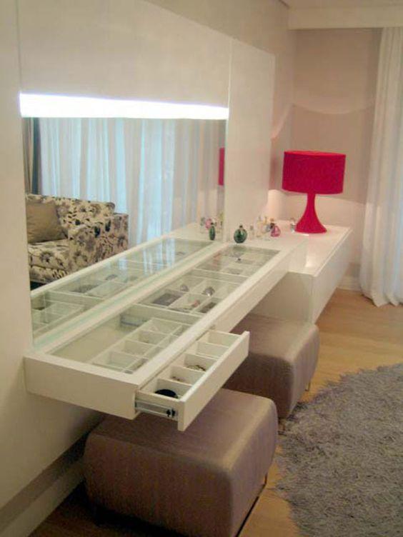 Arredamento e dintorni spazio per trucchi tavolino trousse - Metodi per andare in bagno ...