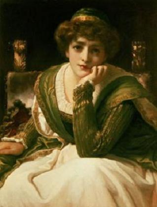 cuadro de Desdémona de Frederic Leighton