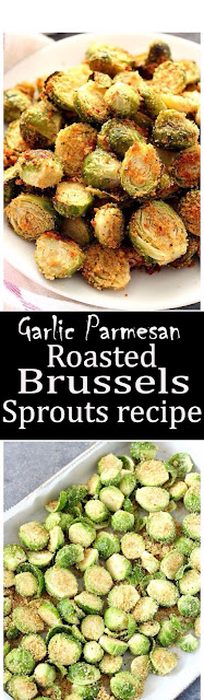 Garlic Parmesan Roasted Brussels Sprouts recipe