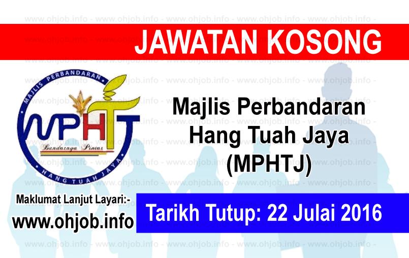 Jawatan Kerja Kosong Majlis Perbandaran Hang Tuah Jaya (MPHTJ) logo www.ohjob.info julai 2016