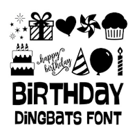 LW Birthday Dingbats font by Lori Whitlock