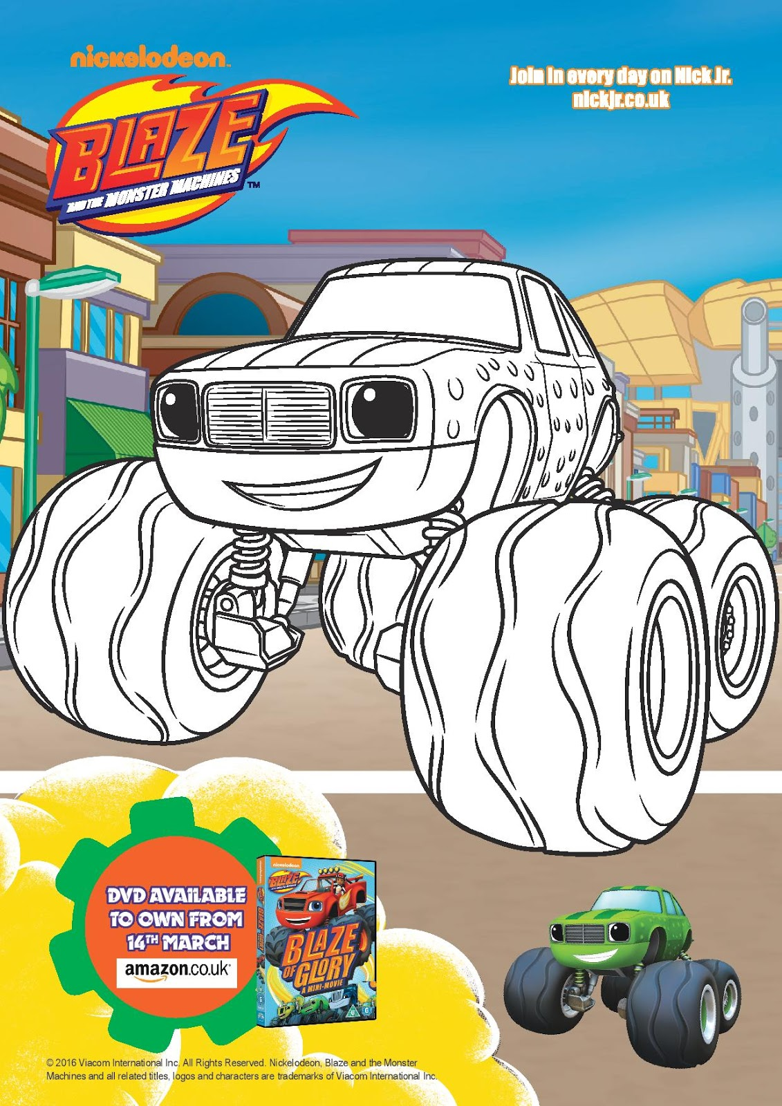 Blaze Coloring Pages Pickle Blaze And The Monster Machines