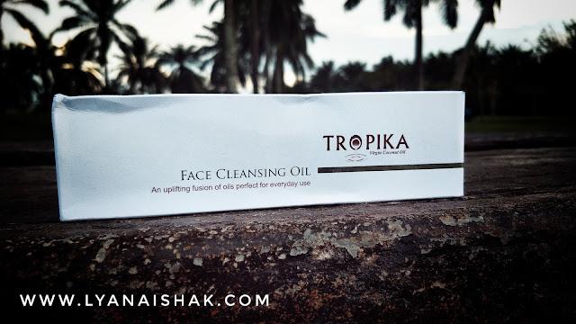 review Tropika  Face Cleansing Oil  , minyak kelapa dara